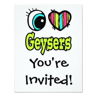 Bright Eye Heart I Love Geysers Card