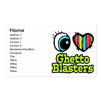 Bright Eye Heart I Love Ghetto Blasters Double-Sided Standard Business Cards (Pack Of 100)