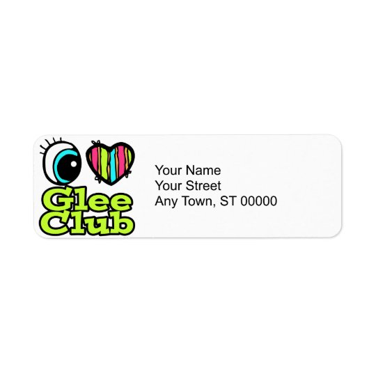 Bright Eye Heart I Love Glee Club Label
