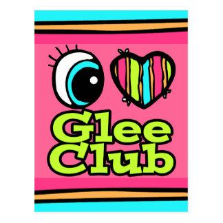 Bright Eye Heart I Love Glee Club Postcard
