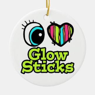 Bright Eye Heart I Love Glow Sticks Christmas Ornaments