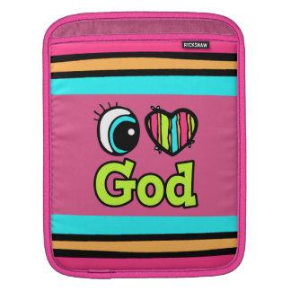 Bright Eye Heart I Love God iPad Sleeves