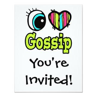 Bright Eye Heart I Love Gossip Card