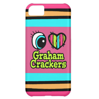 Bright Eye Heart I Love Graham Crackers Case For iPhone 5C
