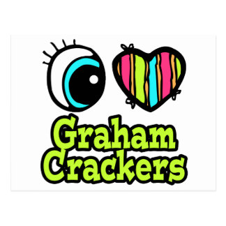 Bright Eye Heart I Love Graham Crackers Postcard