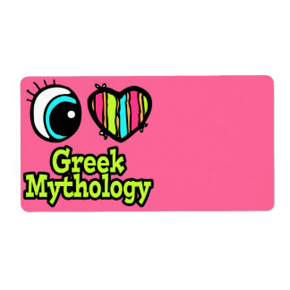 Bright Eye Heart I Love Greek Mythology Label