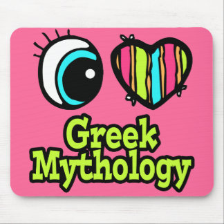 Bright Eye Heart I Love Greek Mythology Mouse Pad