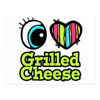 Bright Eye Heart I Love Grilled Cheese Postcard