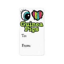 Bright Eye Heart I Love Guinea Pigs Label