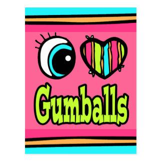 Bright Eye Heart I Love Gumballs Postcard