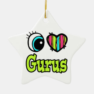 Bright Eye Heart I Love Gurus Christmas Ornaments