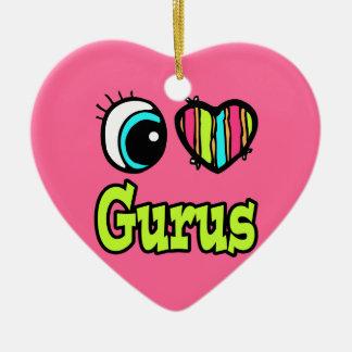 Bright Eye Heart I Love Gurus Ornaments