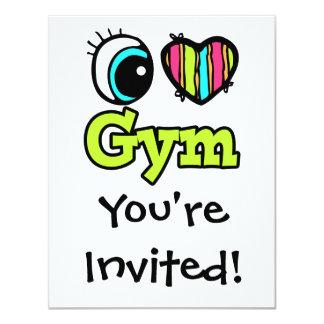 Bright Eye Heart I Love Gym Card