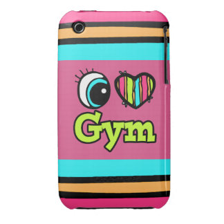 Bright Eye Heart I Love Gym Case-Mate iPhone 3 Case
