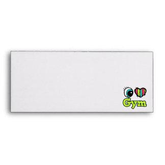 Bright Eye Heart I Love Gym Envelopes