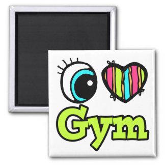 Bright Eye Heart I Love Gym Fridge Magnets