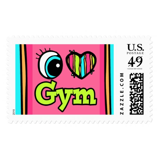 Bright Eye Heart I Love Gym Stamps