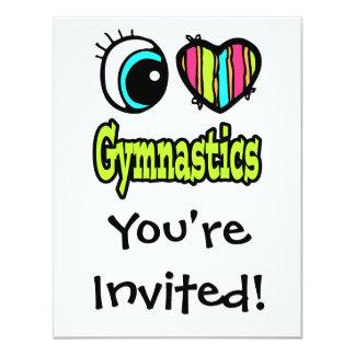 Bright Eye Heart I Love Gymnastics Card