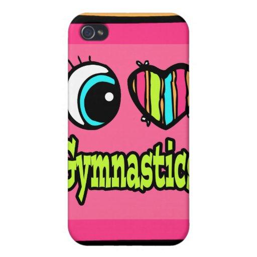 Bright Eye Heart I Love Gymnastics iPhone 4/4S Cases