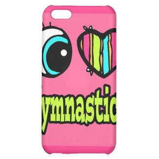 Bright Eye Heart I Love Gymnastics iPhone 5C Covers