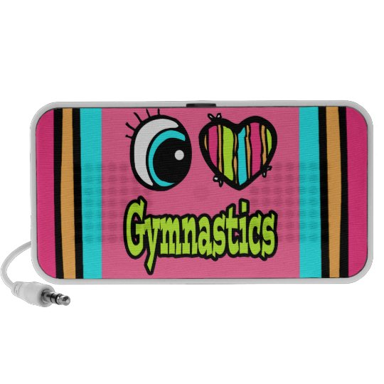 Bright Eye Heart I Love Gymnastics Portable Speaker