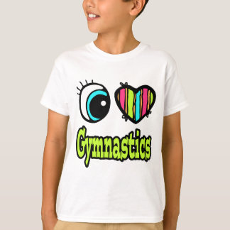 Bright Eye Heart I Love Gymnastics T-Shirt