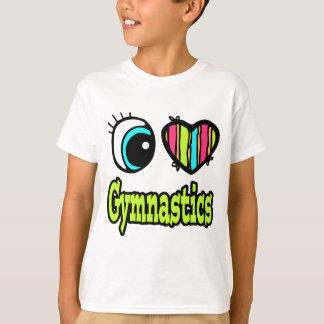 Bright Eye Heart I Love Gymnastics T-Shirt