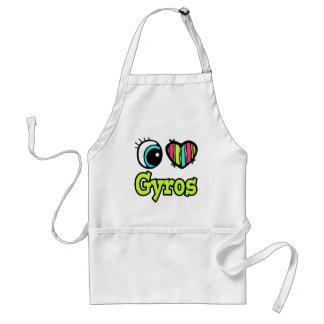 Bright Eye Heart I Love Gyros Apron