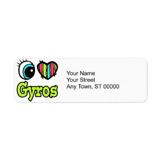 Bright Eye Heart I Love Gyros Label