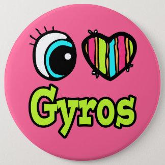 Bright Eye Heart I Love Gyros Pinback Button