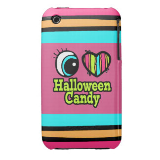 Bright Eye Heart I Love Halloween Candy Case-Mate iPhone 3 Case