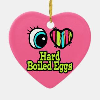 Bright Eye Heart I Love Hard Boiled Eggs Ceramic Ornament