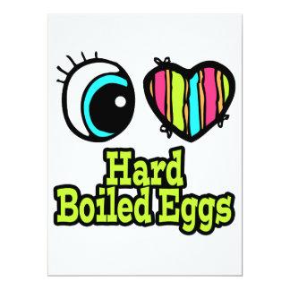 "Bright Eye Heart I Love Hard Boiled Eggs 6.5"" X 8.75"" Invitation Card"