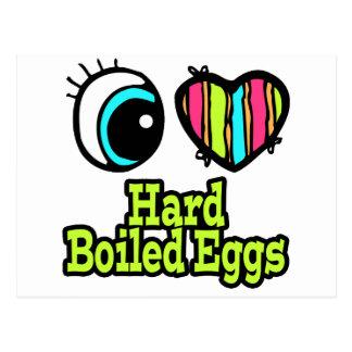 Bright Eye Heart I Love Hard Boiled Eggs Postcard