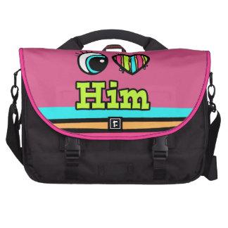 Bright Eye Heart I Love Him Commuter Bag
