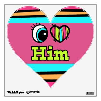 Bright Eye Heart I Love Him Room Decals