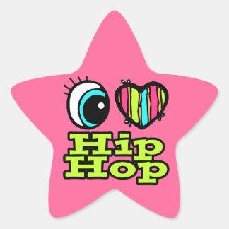 Bright Eye Heart I Love Hip Hop Star Sticker