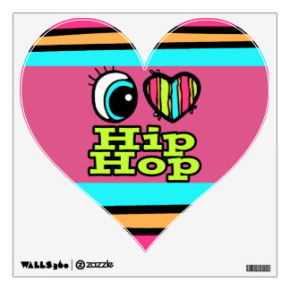 Bright Eye Heart I Love Hip Hop Room Graphic