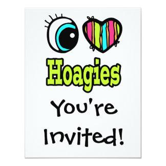 Bright Eye Heart I Love Hoagies Card