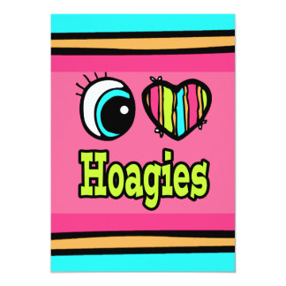 Bright Eye Heart I Love Hoagies 5x7 Paper Invitation Card