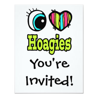 Bright Eye Heart I Love Hoagies 4.25x5.5 Paper Invitation Card