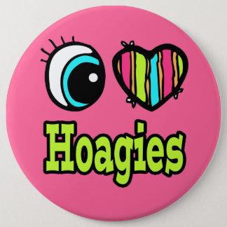 Bright Eye Heart I Love Hoagies Pinback Button