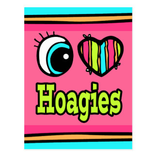 Bright Eye Heart I Love Hoagies Postcard