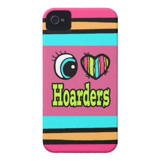 Bright Eye Heart I Love Hoarders iPhone 4 Case-Mate Cases