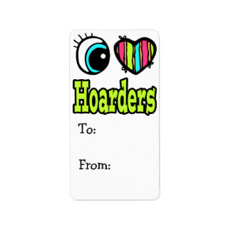Bright Eye Heart I Love Hoarders Label