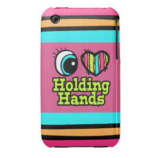 Bright Eye Heart I Love Holding Hands Case-Mate iPhone 3 Cases