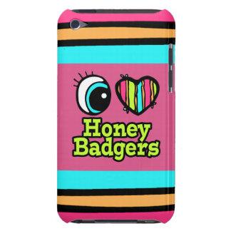 Bright Eye Heart I Love Honey Badgers iPod Case-Mate Cases