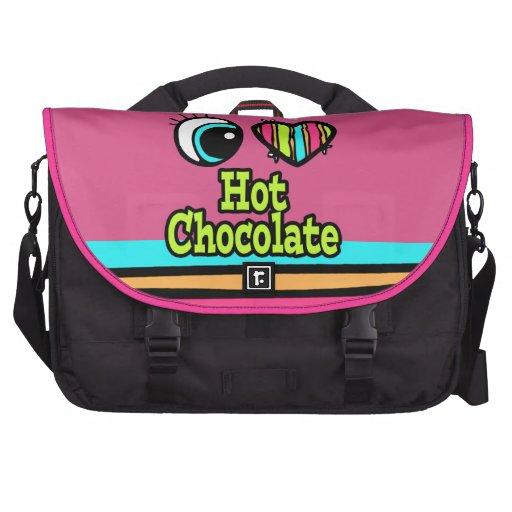 Bright Eye Heart I Love Hot Chocolate Computer Bag