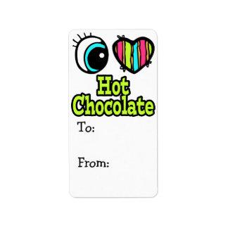 Bright Eye Heart I Love Hot Chocolate Address Label