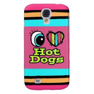 Bright Eye Heart I Love Hot Dogs Samsung Galaxy S4 Covers